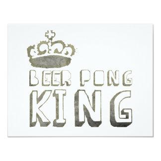 De beste Koning van Pong van het Bier 10,8x13,9 Uitnodiging Kaart