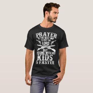 De Beste Manier van het gebed om Lord Messing Kids T Shirt