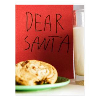 De beste Melk van de Kerstman en Kerstmis van Briefkaart