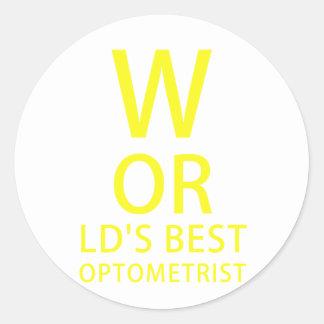 De Beste Optometrist van werelden Ronde Sticker