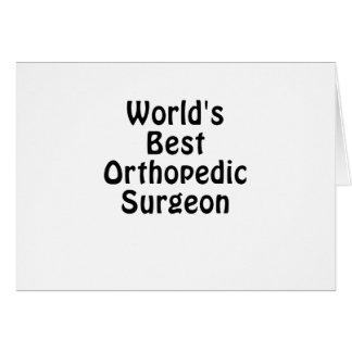De Beste Orthopedische Chirurg van werelden Briefkaarten 0