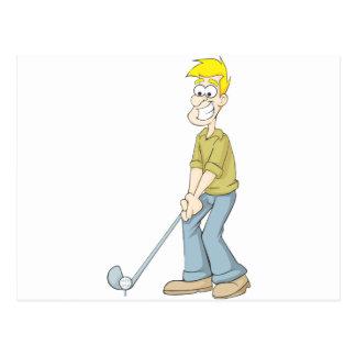 De beste Papa die van de Golfspeler een Cartoon Briefkaart