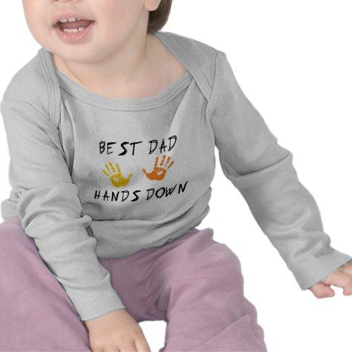 De beste Papa levert de T-shirt van het Baby over
