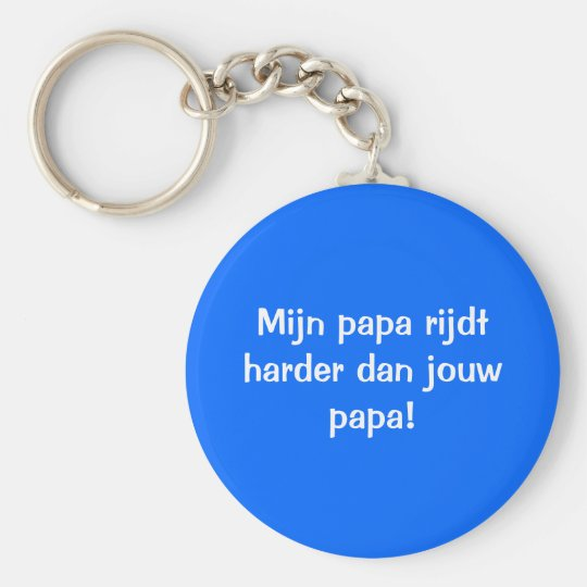 De beste papa sleutelhanger