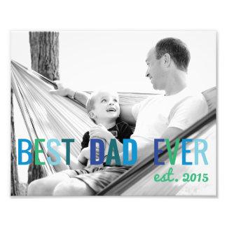 De Beste Papa van de Foto van de Douane van Dads
