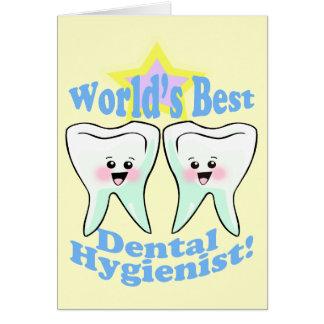 De Beste TandHygiënist van werelden Briefkaarten 0