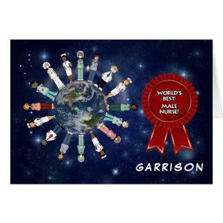De Beste Verpleger van de Wereld van de Dag van Briefkaarten 0