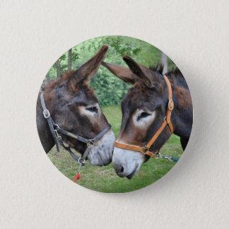 De beste vrienden van de ezel ronde button 5,7 cm