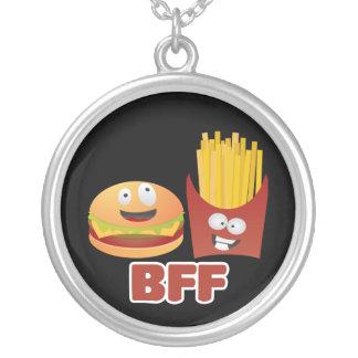 De Beste Vrienden van de hamburger en van Gebraden Zilver Vergulden Ketting
