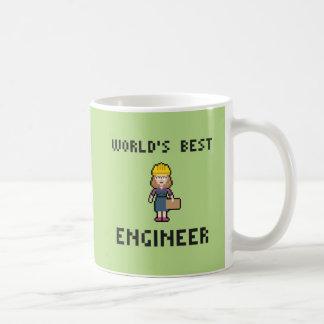 De Beste Vrouwelijke Ingenieur van het pixel Koffiemok