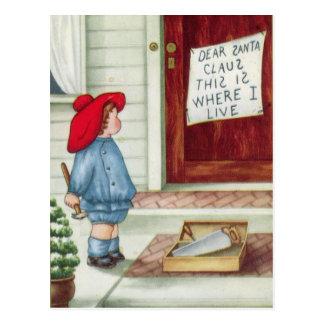 De beste Wijnoogst van de Kerstman Briefkaart