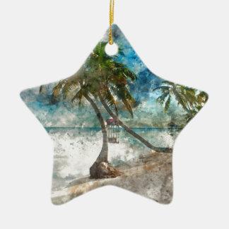De Bestemming van de Reis van Caye Belize van de Keramisch Ster Ornament