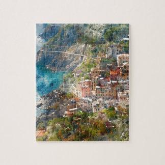 De Bestemming van de Vakantie van Terre Italië van Foto Puzzels