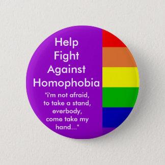 De Bestrijding van de hulp van Homophobia Ronde Button 5,7 Cm