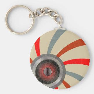 De Bestuurder van het pop-art Basic Ronde Button Sleutelhanger