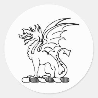 De bèta Sticker van de Draak van de Theta Pi