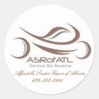 De betaalbare Reparatie van de Autoped van Atlanta Ronde Sticker