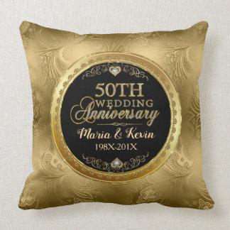 De betoverende 50ste Gouden Sjabloon van het Kussen