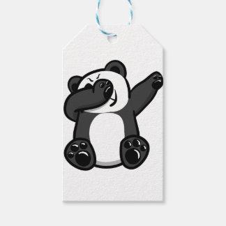 De bettende Panda van Dieren Cadeaulabel