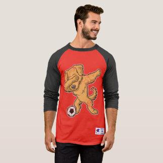 De bettende Schar van het Voetbal van de Hond van T Shirt