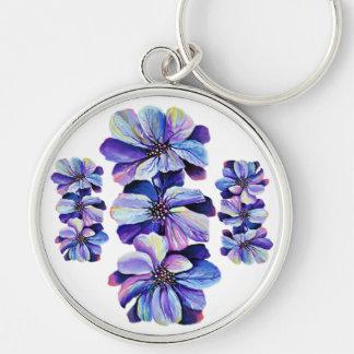 De bevallige bloemen van het Ridderspoor, Sleutelhanger