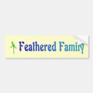 De bevederde Sticker van de Bumper van de Familie
