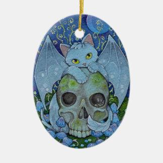De Bevestiging van Oracle van de Katten van de Keramisch Ovaal Ornament