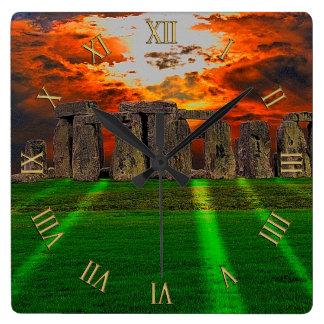 De Bevindende Stenen van Stonehenge bij Vierkante Klok