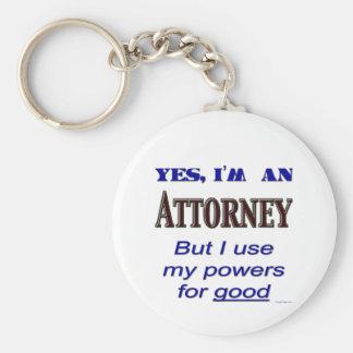 De Bevoegdheden van de procureur voor Goed Spreuk Sleutelhanger