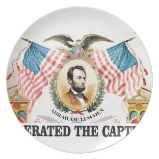 De bevrijder Lincoln van Abe Melamine+bord