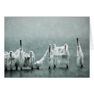 De bevroren Dokken van de Boot van de Winter Briefkaarten 0