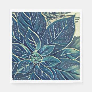 De bevroren Servetten van de Poinsettia van de Papieren Servetten