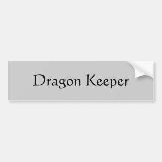 De Bewaarder van de draak Bumpersticker