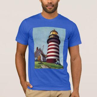 De Bewaarder van de vuurtoren door Stevan Dohanos T Shirt