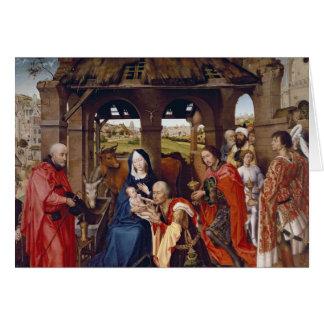De bewondering van Magi, c.1455 Briefkaarten 0