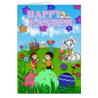 De bezige Kaart van Pasen
