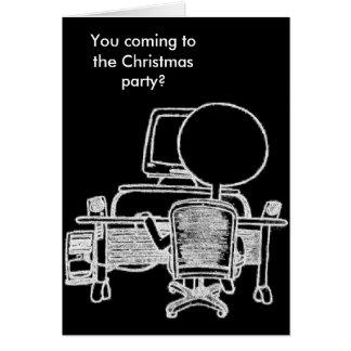 De bezige Kerstkaart van de Kerel van de Computer Notitiekaart