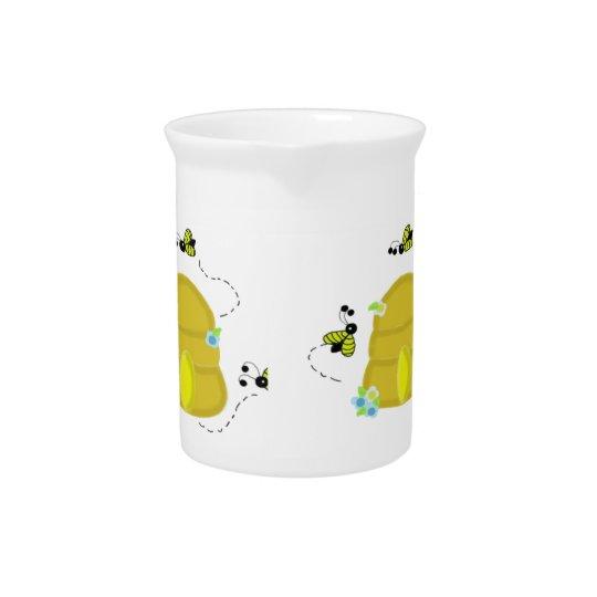 De bezige Waterkruik van de Bijenkorf van Bijen Drink Pitcher