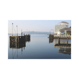 De Bezinningen van de Baai van Cardiff Canvas Afdruk