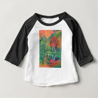 De Bezinningen van de herfst bij Pieken van Otter Baby T Shirts