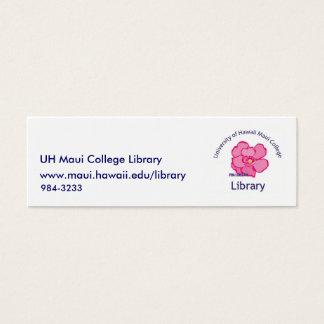 De Bibliotheek van de Universiteit van Maui Mini Visitekaartjes
