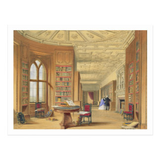 De bibliotheek, Windsor Kasteel, 1838 Briefkaart