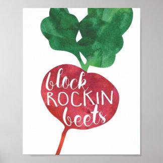 De Bieten van Rockin van het blok | Veggie Keuken Poster