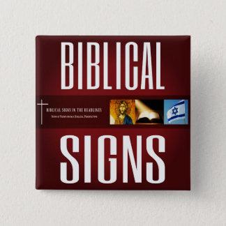 De bijbelse Knoop van het Logo van Tekens ITH 2018 Vierkante Button 5,1 Cm
