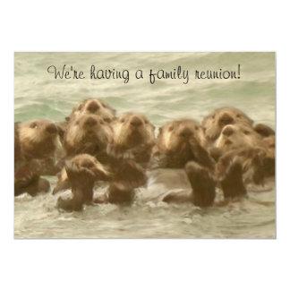 De Bijeenkomst van de Familie van de Otter van het 12,7x17,8 Uitnodiging Kaart
