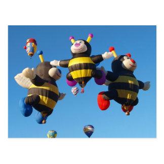 De Bijen van de Ballon van de Hete Lucht van Briefkaart