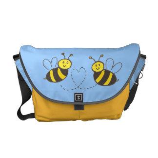 De Bijen van de honing met Hart Courier Bag