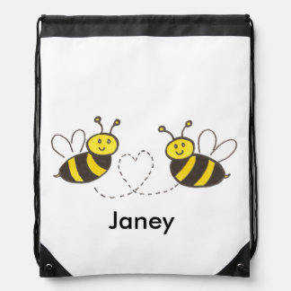 De Bijen van de honing met Hart Trekkoord Rugzakje