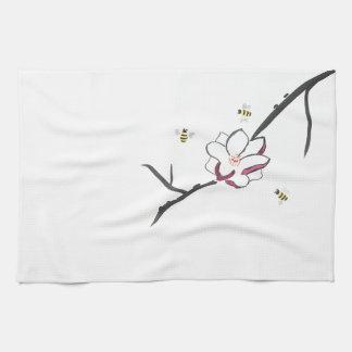 De Bijen van de magnolia en van de Honing Theedoek
