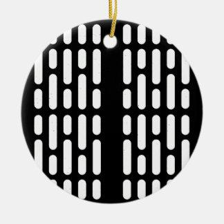 De Binnenlandse Verlichting van Deathstar Rond Keramisch Ornament